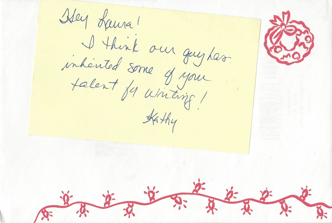 Note from Kathy